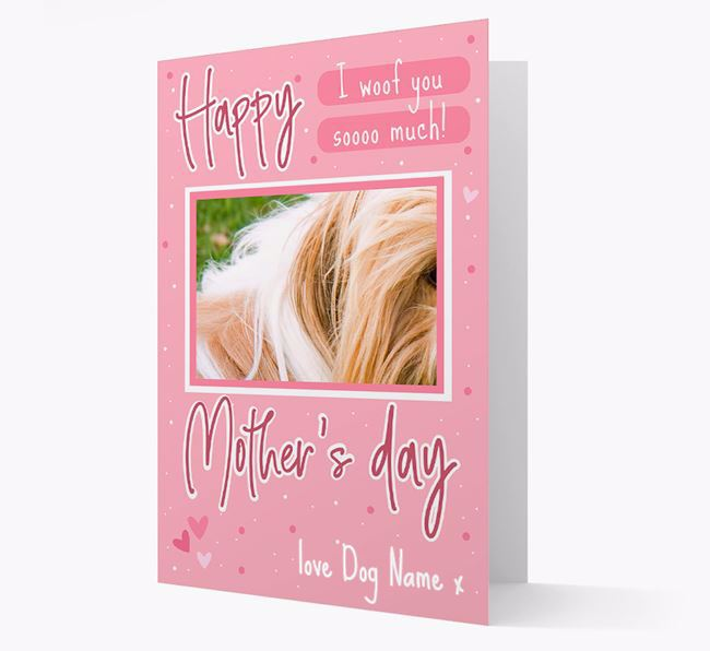 Happy Mother's Day - Personalized Shih Tzu Photo Upload Card