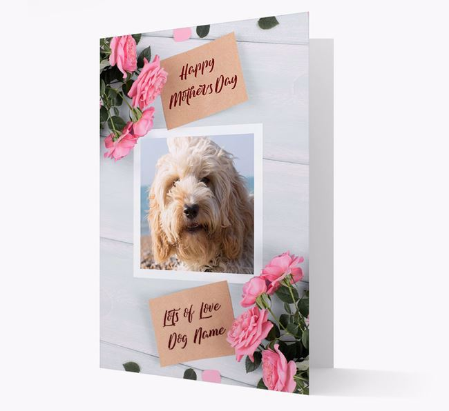 Happy Mother's Day Roses- Personalized Cockapoo Photo Upload Card