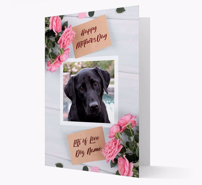 Happy Mother's Day Roses- Personalized Labrador Retriever Photo Upload Card