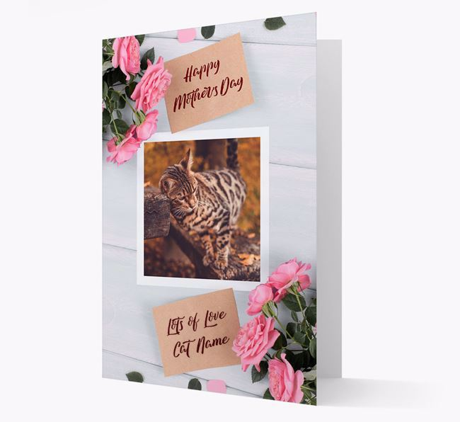Happy Mother's Day Roses- Personalized Bengal Photo Upload Card