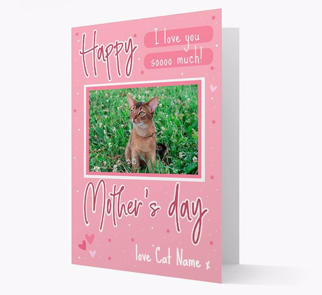 Happy Mother's Day - Personalized Cat Photo Upload Card