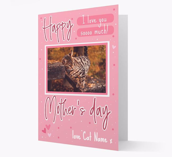 Happy Mother's Day - Personalized Bengal Photo Upload Card