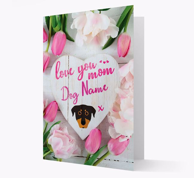 'Love You Mom' - Personalized Beauceron Card