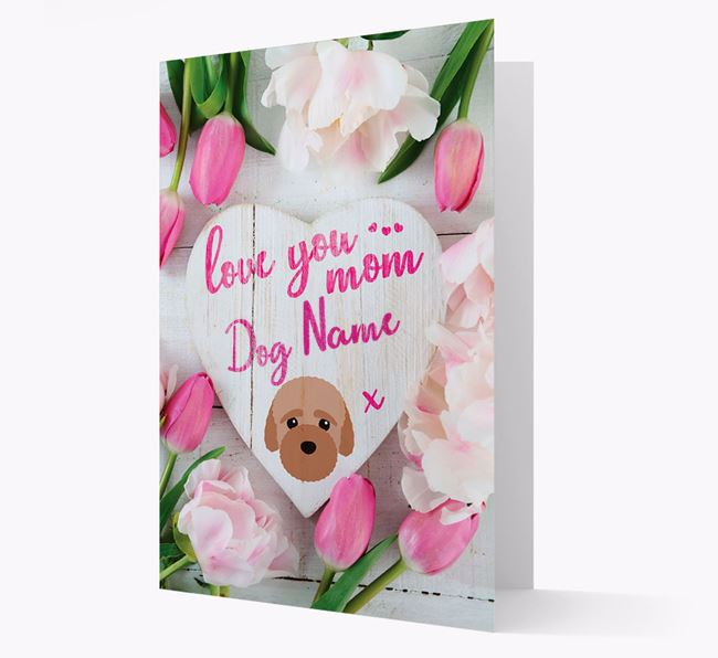 'Love You Mom' - Personalized Bich-poo Card