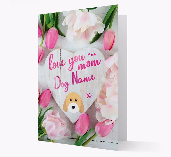 'Love You Mom' - Personalized Cockapoo Card