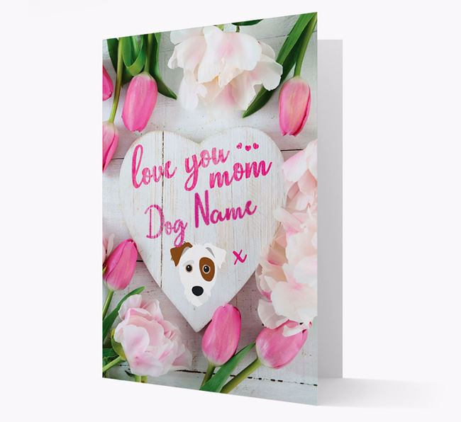 'Love You Mom' - Personalized Jack-A-Poo Card