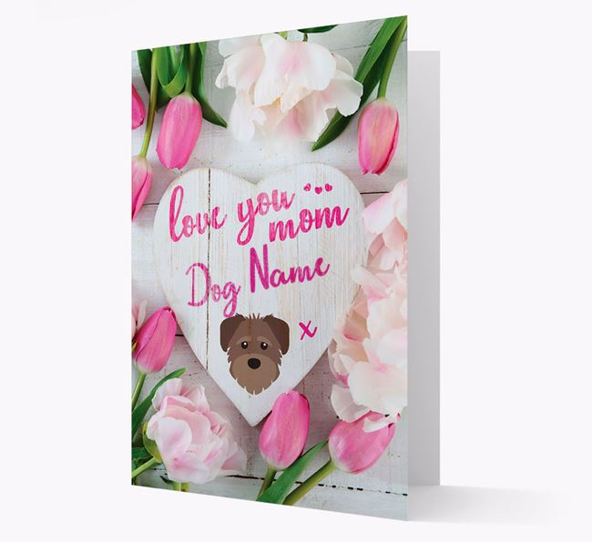 'Love You Mom' - Personalized Schnoodle Card