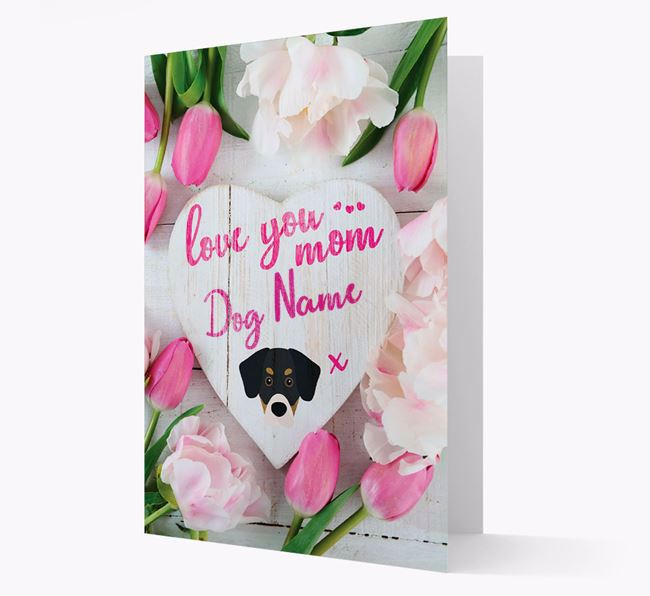 'Love You Mom' - Personalized Siberian Cocker Card