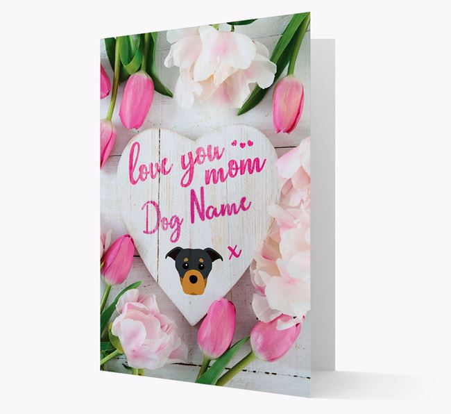 'Love You Mom' - Personalized Staffordshire Bull Terrier Card