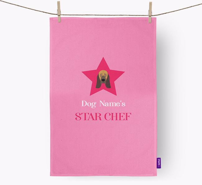 'Your Dog's Star Chef' - Personalized Bloodhound Dish Towel