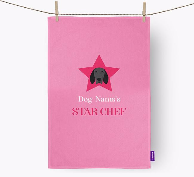 'Your Dog's Star Chef' - Personalized Braque D'Auvergne Dish Towel