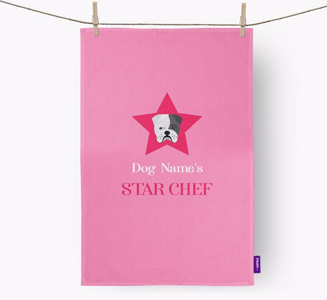 'Your Dog's Star Chef' - Personalized Bull Pei Dish Towel