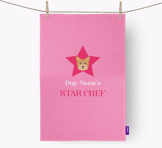 'Your Dog's Star Chef' - Personalized Chorkie Dish Towel