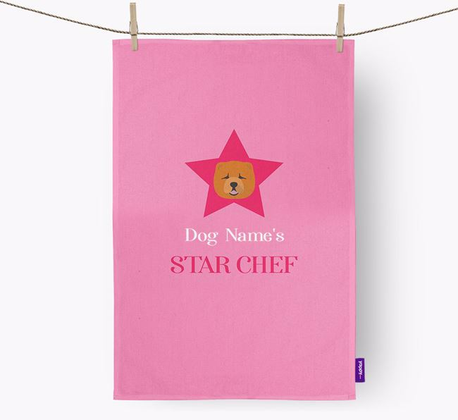 'Your Dog's Star Chef' - Personalized Chow Chow Dish Towel