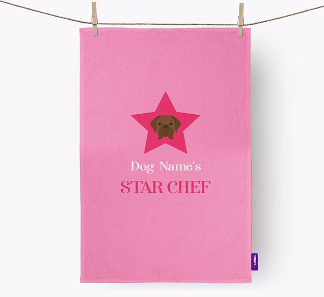 'Your Dog's Star Chef' - Personalized Dogue de Bordeaux Dish Towel