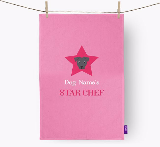 'Your Dog's Star Chef' - Personalized French Bull Jack Dish Towel