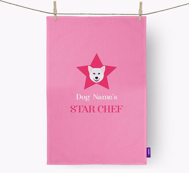 'Your Dog's Star Chef' - Personalized Greenland Dog Dish Towel