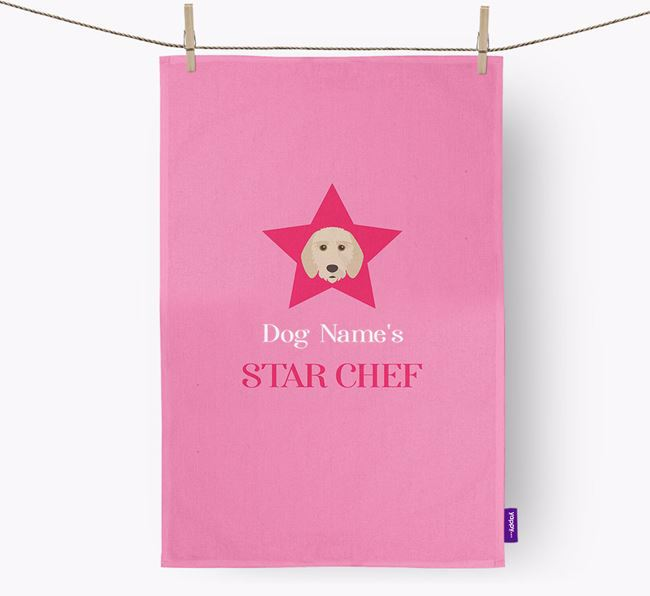 'Your Dog's Star Chef' - Personalized Griffon Fauve De Bretagne Dish Towel