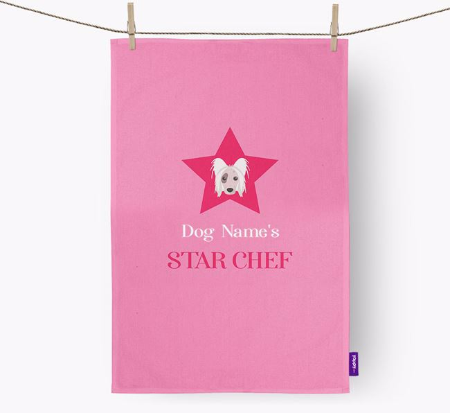 'Your Dog's Star Chef' - Personalized Hairless Chinese Crested Dish Towel