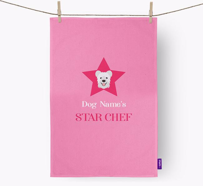 'Your Dog's Star Chef' - Personalized Hungarian Pumi Dish Towel