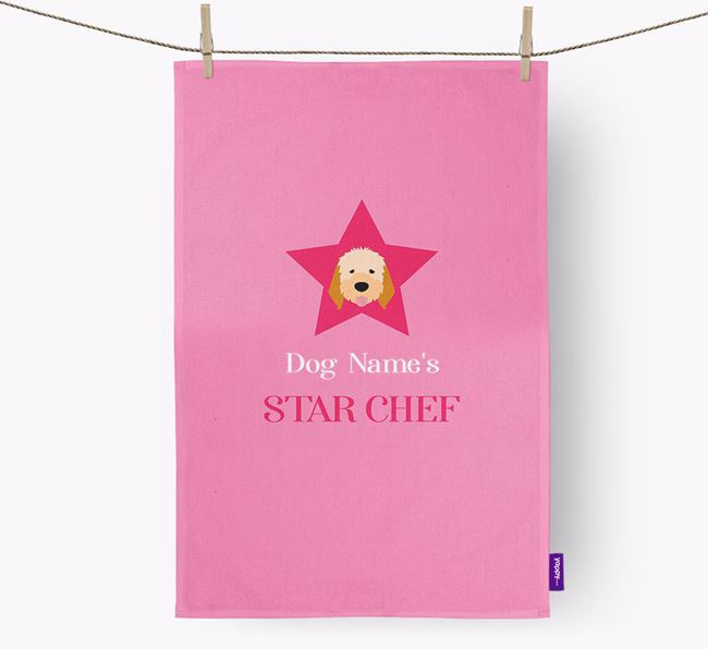 'Your Dog's Star Chef' - Personalized Italian Spinone Dish Towel