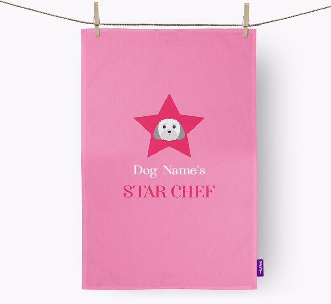 'Your Dog's Star Chef' - Personalized Malti-Poo Dish Towel