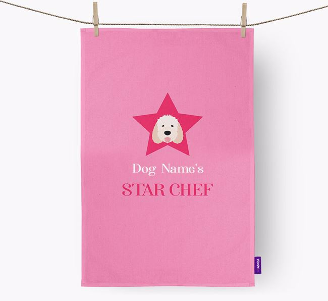 'Your Dog's Star Chef' - Personalized Otterhound Dish Towel