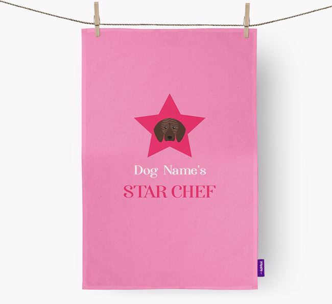 'Your Dog's Star Chef' - Personalized Plott Hound Dish Towel