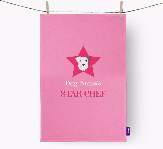 'Your Dog's Star Chef' - Personalized Sealyham Terrier Dish Towel
