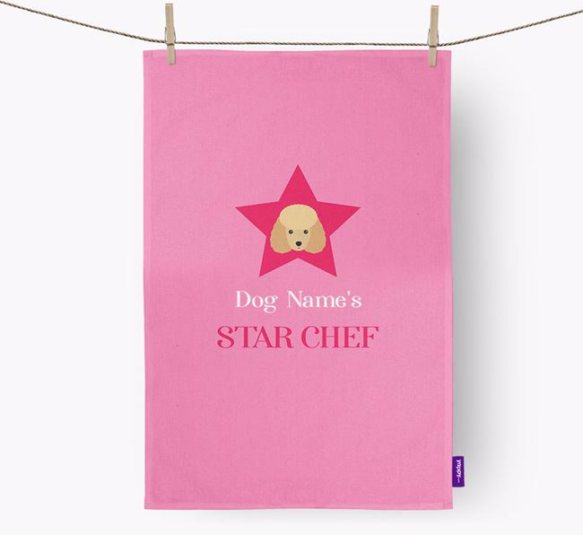 'Your Dog's Star Chef' - Personalized Toy Poodle Dish Towel