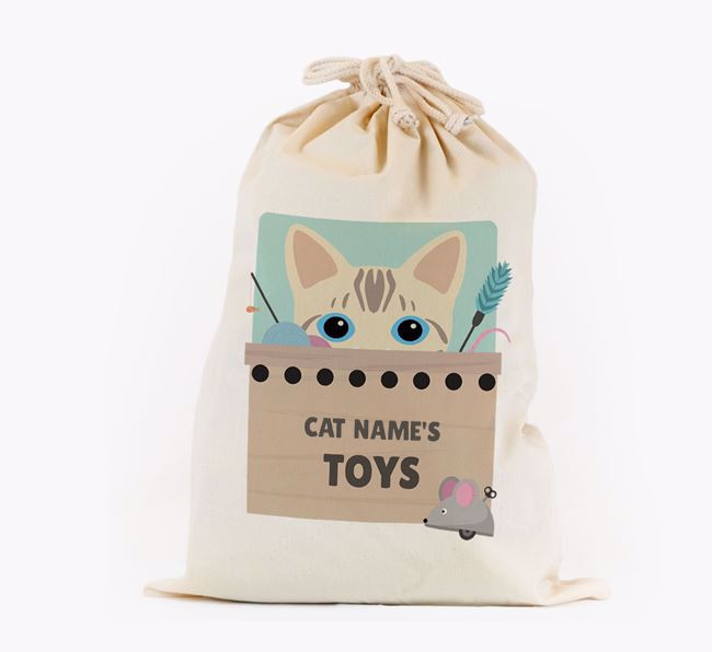 'Your Cat's Toys' - Personalised Toy Sack for your Bengal