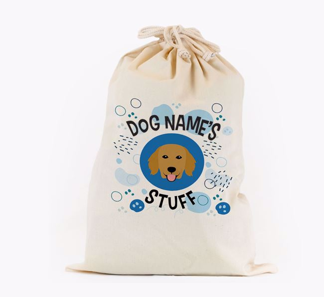 Toy Sack 'Stuff' - Personalised for your Flat-Coated Retriever
