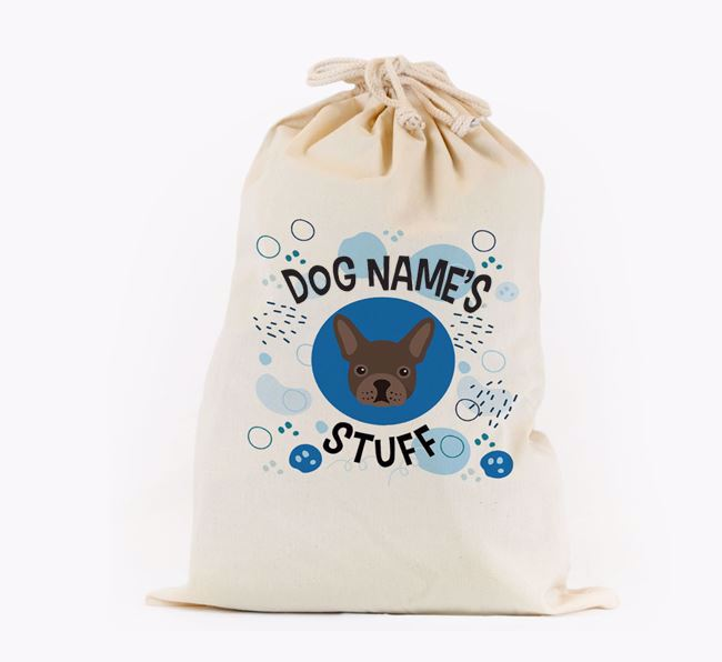 Toy Sack 'Stuff' - Personalised for your French Bulldog