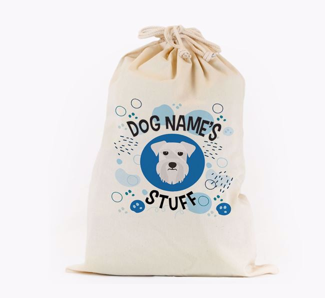 Toy Sack 'Stuff' - Personalised for your Schnauzer