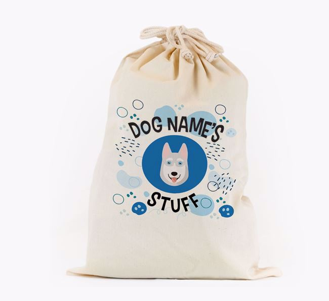 Toy Sack 'Stuff' - Personalised for your Siberian Husky