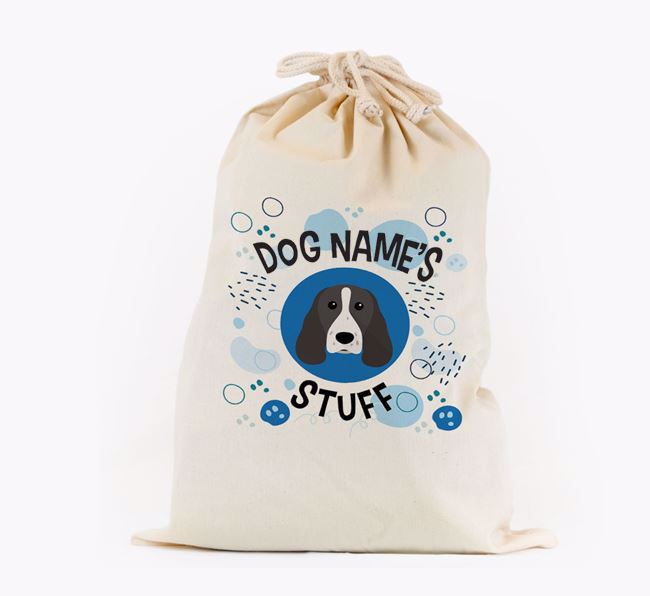 Toy Sack 'Stuff' - Personalised for your Springer Spaniel