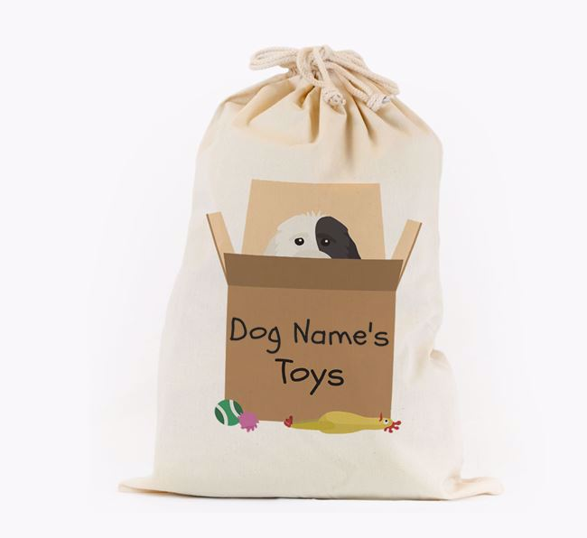 'Your Dog's Toys' - Personalised Cockapoo Toy Sack