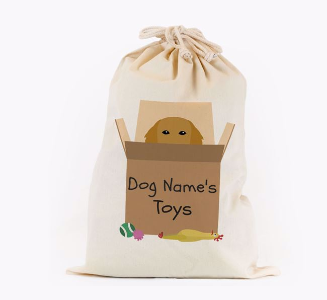 'Your Dog's Toys' - Personalised Flat-Coated Retriever Toy Sack