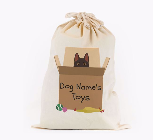 'Your Dog's Toys' - Personalised German Shepherd Toy Sack
