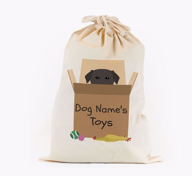 'Your Dog's Toys' - Personalised Golden Labrador Toy Sack