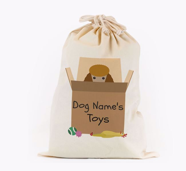 'Your Dog's Toys' - Personalised Poodle Toy Sack