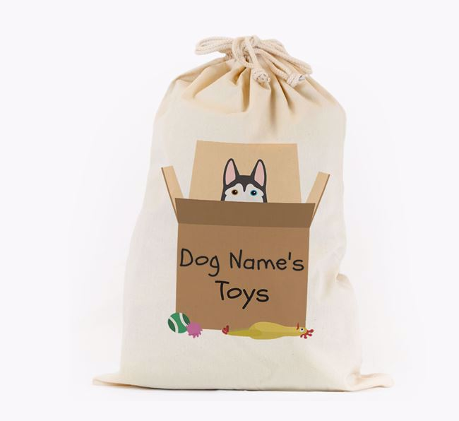 'Your Dog's Toys' - Personalised Siberian Husky Toy Sack