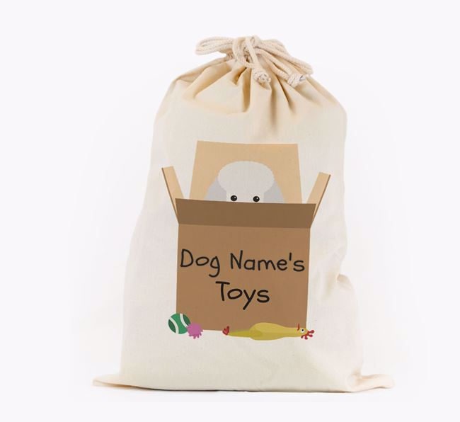 'Your Dog's Toys' - Personalised Toy Poodle Toy Sack