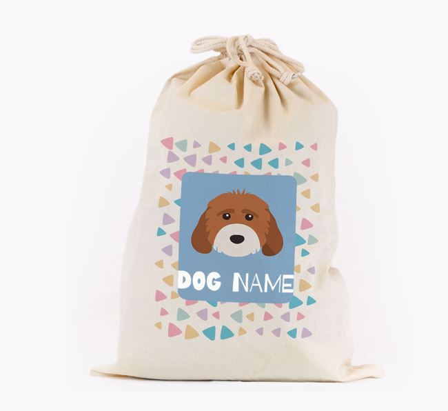 Triangle Pattern - Personalised Cockapoo Toy Sack