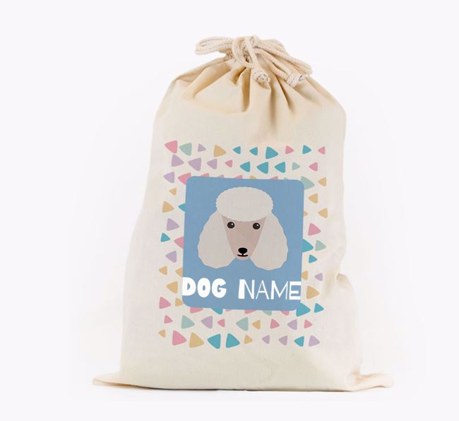 Triangle Pattern - Personalised Poodle Toy Sack