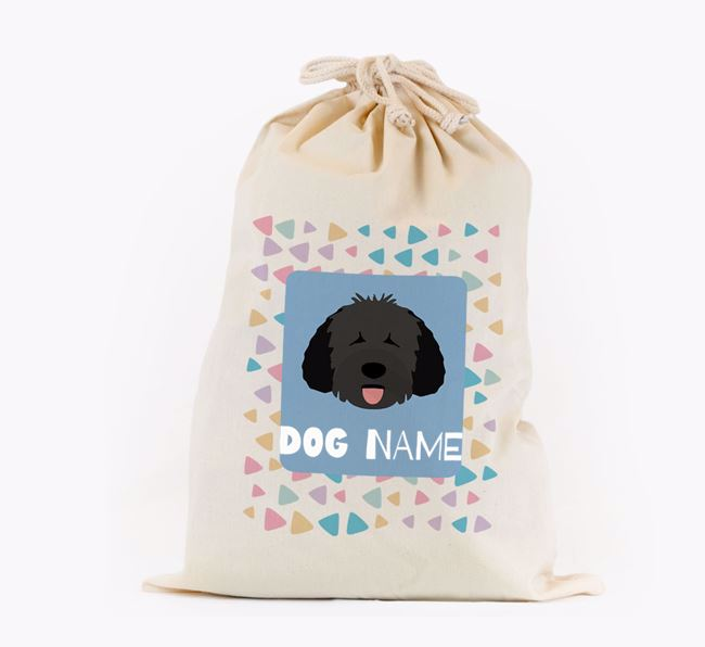 Triangle Pattern - Personalised Dog Toy Sack