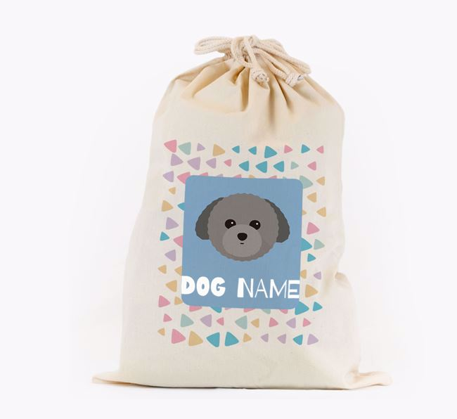 Triangle Pattern - Personalised Toy Poodle Toy Sack