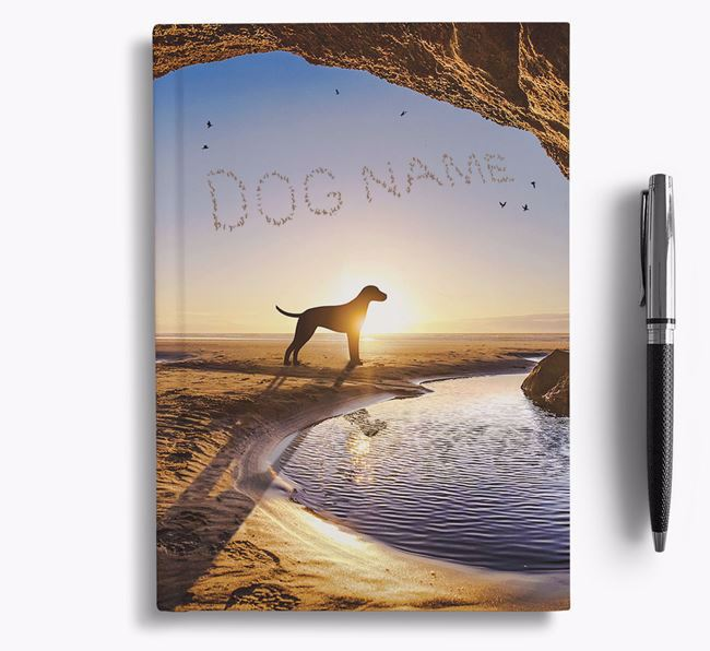 'Sunset Cave' - Personalized Greek Harehound Notebook