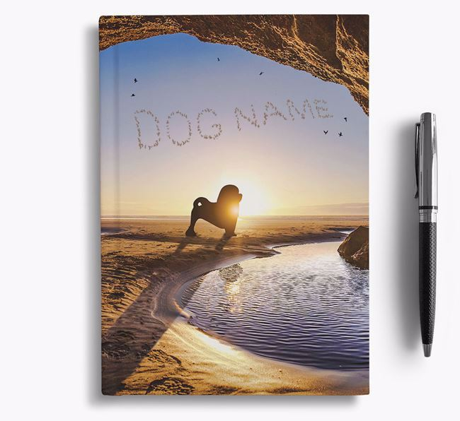 'Sunset Cave' - Personalized Löwchen Notebook