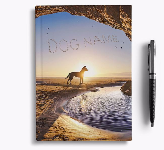 'Sunset Cave' - Personalized Manchester Terrier Notebook